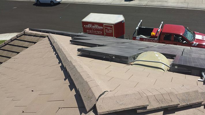 Solar Panels screened off