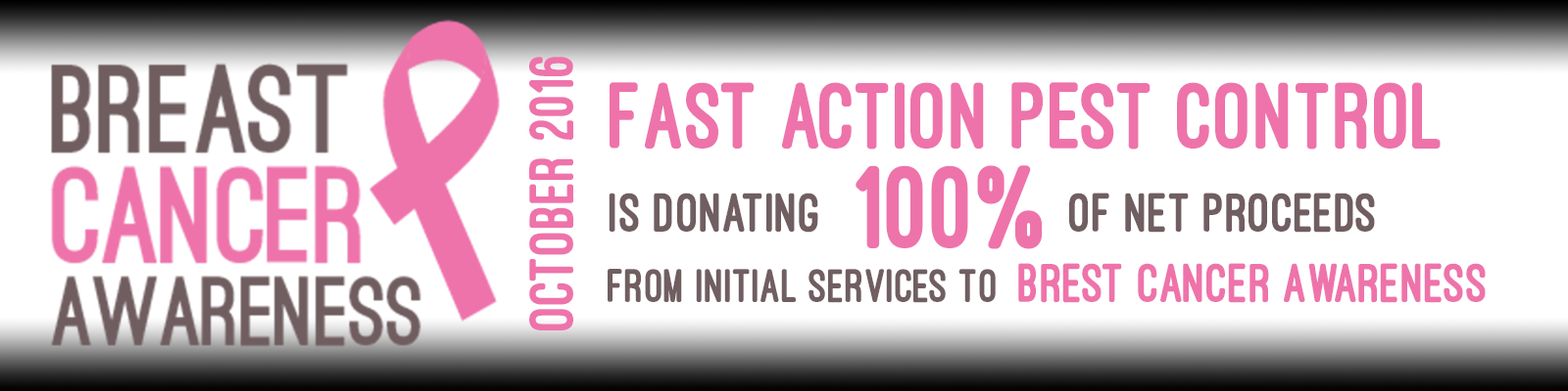 Breast Cancer 2016 Fast Action Pest Control Corporation