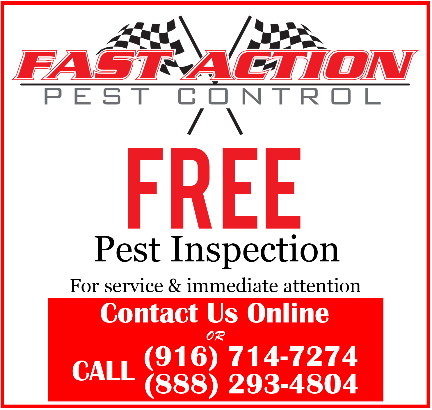 Fast Action Pest Control. Elk Grove Insect & Rodent Exterminators. Top Rated Pest Service, Best Pest Control Company in Elk Grove, CA. & surrounding