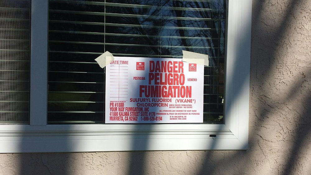 Termite fumigation warning sign & Service - Fast Action Pest Control Corporation | Sacramento Insect ...